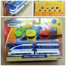 TOMY CHUGGINGTON WOODEN MAGNETIC TRAIN- CHUG-A-SONIC HANZO +TENDER (BROKEN BOX)