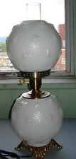 LG WRIGHT BY FENTON MILK GLASS GLASS STIPPLE STAR  GONE WITH THE WIND LAMP