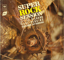 "LITTLE RICHARD, CARL PERKINS, SCREAMIN' JAY HAWKINS ""SUPER ROCK SESSION"" LP CBS"