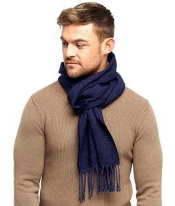 Mens Vintage Herringbone Knit Striped Casual Scarf