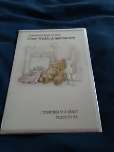 Silver anniversary Card BNIP - bears