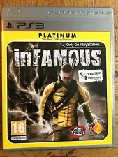 inFamous Platinum Version (unsealed) - PS3 UK Release New!