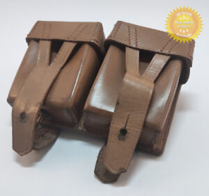 Mosin Nagant Rare Ammo Double Pouch Dated Leather Original Soviet Russian German