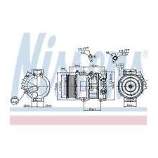 Fits Toyota Avensis T27 2.0 D-4D Genuine Nissens A/C Air Con Compressor