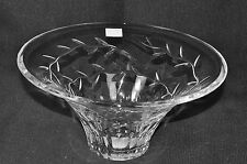 "WATERFORD Clear Crystal Garland Flared 10"" Bowl/Vase Michael Aram New"