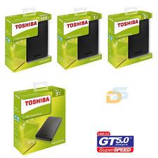 "HARD DISK ESTERNO 2,5"" 500GB  1TB  2TB  3TB TOSHIBA SUPER SPEED MAC WINDOWS 10"