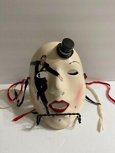 Vtg Vandor Pelzman Designs Ceramic Mask Fred Astaire 1983 Japan Hand Decorated