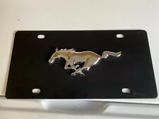 LFW.MUS.EB Ford Mustang Black Stainless Steel License Plate Frame