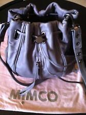 Mimco Leather Bag - New with tags - Viking Day Pouch - Grey