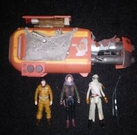 Disney Star Wars Action Figure Lot Of 5 Items Rey's Speeder ...