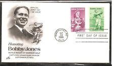 US SC # 1932-1933 Babe Zaharias, Bobby Jones FDC. Artcraft cachet 1