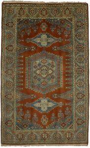 Orange Tribal Design Handmade 5X8 Vintage Style Indo-Viss Oriental Rug Carpet