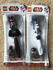 2 New Lego Star Wars Pens - Darth Maul and Stormtrooper
