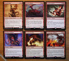 Lot of 6 Different Red Commander Dragons - *Unplayed NM* (English Magic EDH MTG)