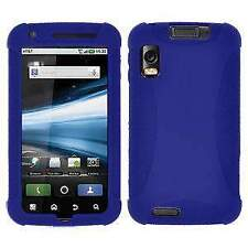 AMZER SILICONE SOFT SKIN JELLY FIT CASE COVER FOR MOTOROLA ATRIX 4G MB860 - BLUE