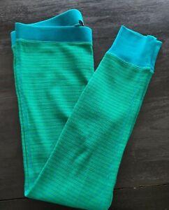 J Crew LARGE Waffle Leggings Pajama Lounge Pants Emerald Turquoise NWT