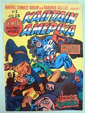 Marvel 1976 Greek Comics Kabanas Captain America Avengers #1 Stan Lee Jack Kirby