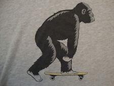 Headline Shirts Funny Apparel Monkey Skateboarding Gray Soft T Shirt Size 3XL