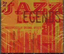 JAZZ LEGENDS - 72 MASTERPIECES BY ORIGINAL ARTISTS - NEW SEALED 3 CD SET