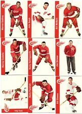 9-1994/95 detroit red wings parkhurst reprint lot 1956/57 bucyk godfrey dineen +