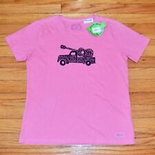 Life is Good Brand FESTIVAL Women's Size SMALL Pink T-Shirt, Peru Cotton NWT $26