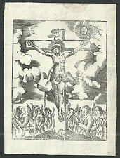 Holy card esheet antique recorded de Jesus en la Cruz estampa santino