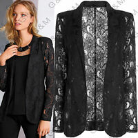 Next Black Floral Lace Blazer Jacket Party Cardigan Casual Formal Womens Ladies