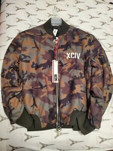 GCDS Camouflage Print Bomber with Patched Logo