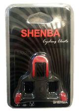shenba 2x bicicleta de carretera AUTOBLOCANTE Tacos Pedales Rojo PARA SHIMANO