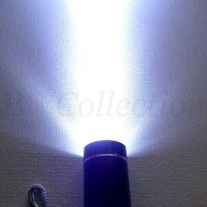 Small Torch COB LED Mini Aluminium Camping Hiking Work Pocket Light With Strap