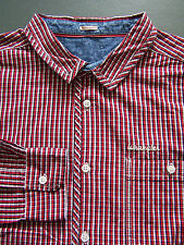 Wrangler Checked Shirt Men's Large Red White Blue Long Sleeved Vintage LSHz492