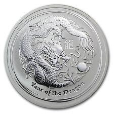 2012 2 oz Silver Australian Perth Mint Lunar Year of the Dragon Coin -SKU #62666