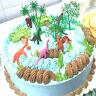 16pcs/Set DIY Cake Topper Jungle Dinosaur Ornaments Cake Baking Decor Kids To Bj