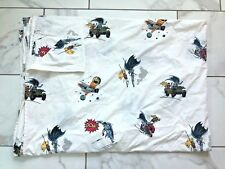 Pottery Barn Kids BATMAN & ROBIN POW Twin Size Bed Sheet Cover