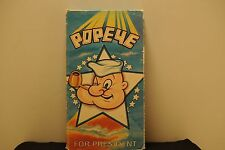 Popeye for president, vhs tape, 1989, 30 minutes, 4 animated color cartoons