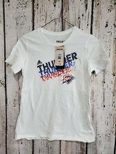 Lz Adidas Youth Medium 10/12 Okc Thunder Nba Basketball Go-To Tee T-Shirt Tshirt