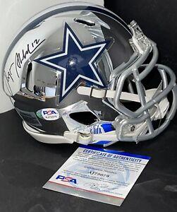 Roger Staubach Signed Autographed Dallas Cowboys Chrome Mini Helmet PSA/DNA