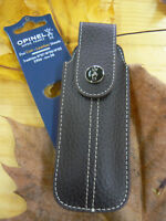 Fodero per coltelli Opinel OP01547 Chic Brown Leather Sheath custodia