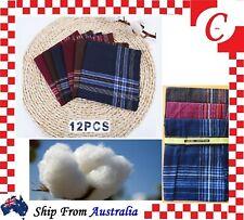 12x Mens Handkerchiefs 100 Pure Cotton Pocket Square Hanky Handkerchief BULK
