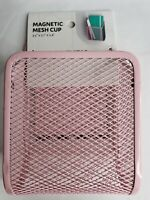 """Pink Magnetic Mesh Cup, Locker Style by Ubrands, 3.5"""" x 5.1"""" x 2.4"""", NWT"""