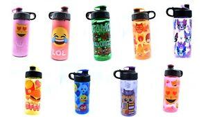 Cool Gear Kids Water Bottle 16 Oz BPA Free Choose Design Emoji Dog Camo Owl Cat
