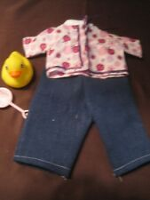 "Handmade Pink Lady Bug Shirt & Pants fits 11-12"" baby dolls"