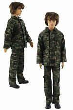 Military-style camouflage clothing/Outfit/Tops+Pants For 12 inch Ken Doll B32