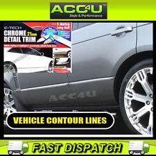 E-Tech 21mm Chrome Car Detail Body Door Trim Bumper Protection Styling Strip Kit