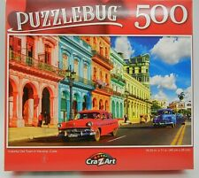 Colorful Old Town in  Havana ,Cuba . 500 Piece Puzzle