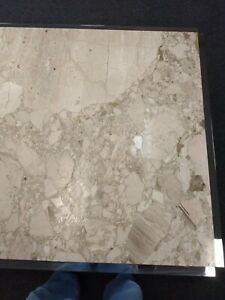 4' x 4' square Marble Top Coffee Table in White