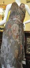 Ralph Lauren womens silk brown floral sleeveless dress lined size 12