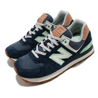 New Balance 574 Beach Cruiser Navy Green Grey Gum Women Casual Shoes WL574BCM B