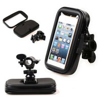 Waterproof Motorcycle Bicycle Handlebar Case Bag Mount Holder for Cell Phone GPS