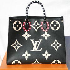 Louis Vuitton Onthego GM Tote Bag M45373 Giant Monogram Empreinte Black Auth New